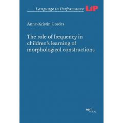 The role of frequency in children's learning of morphological constructions