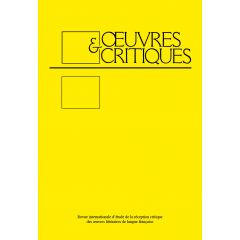 Oeuvres & Critiques X, 1 (1985)