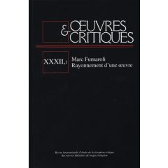 Oeuvres & Critiques XXXII, 1 (2007)