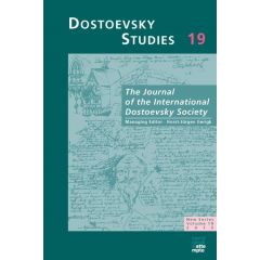 Dostoevsky Studies, Volume 19/2015
