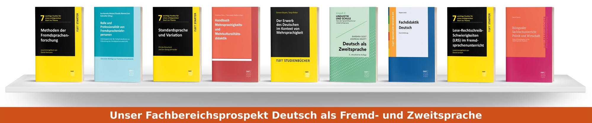 Fachbereichsprospekt Deutsch als Fremdsprache und Deutsch als Zweitsprache
