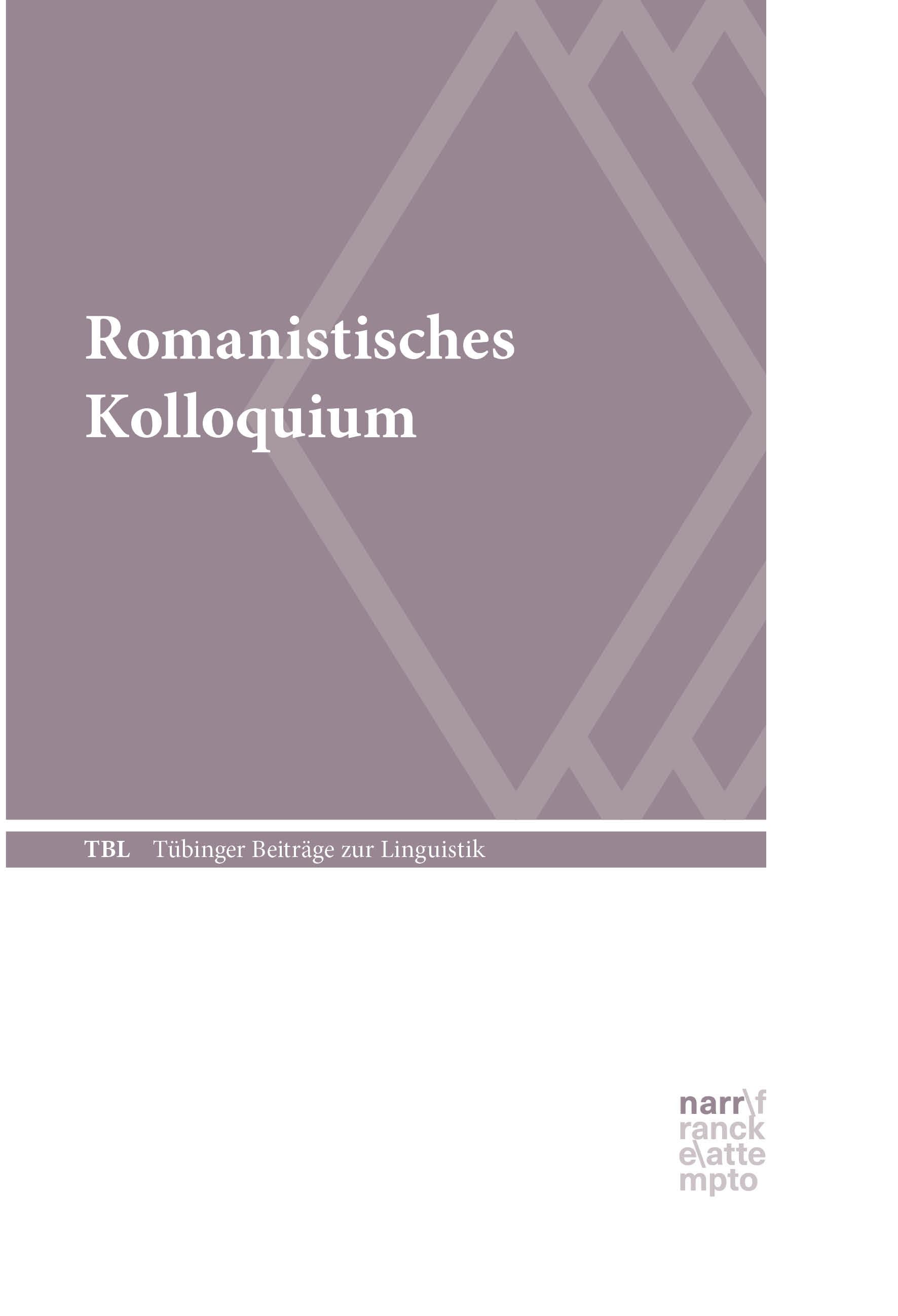 Romanistisches Kolloquium