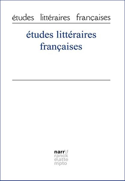 études littéraires françaises